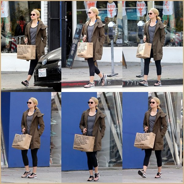 ● Dianna Agron chez American Apparel à West Hollywood !