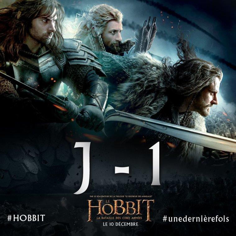 J-1 pour la sortie du dernier HOBBIT !!!