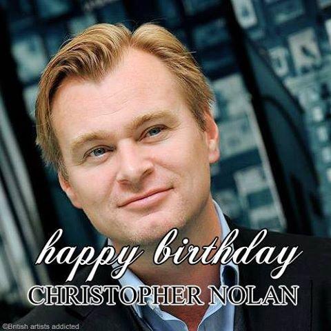 Happy birthday to Christopher Nolan !