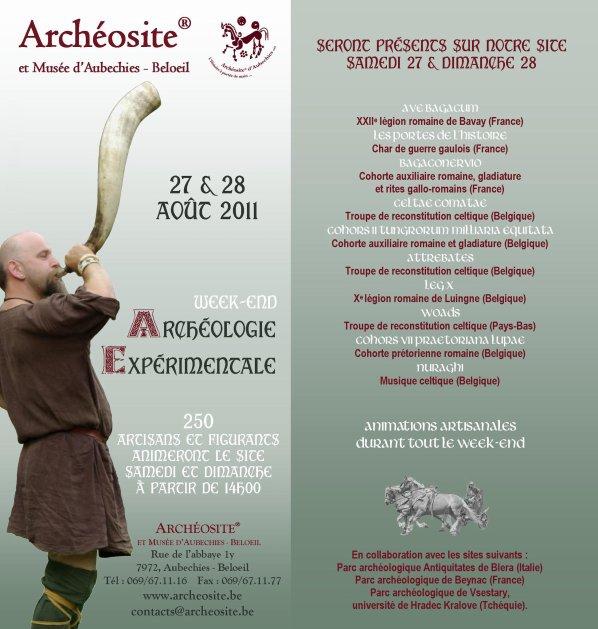 Aubechies, Belgique, WE archéologie expérimentale