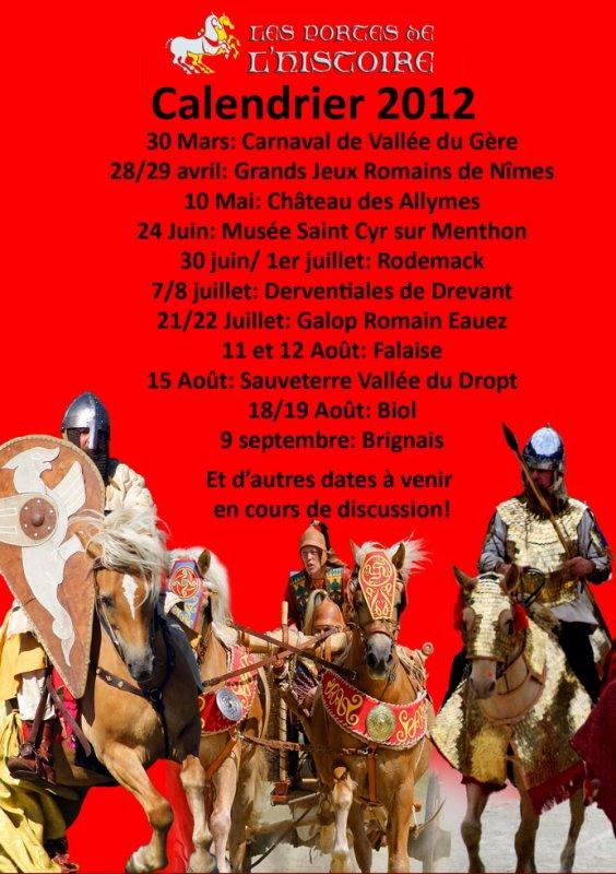 calendrier 2012 provisoir