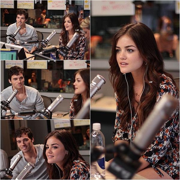 >> Vendredi 26 août 2011 _  Lucy Hale & Ian Harding ( Ezra Fitz dans PLL ) ont assisté à la radio de Ryan Seacrest.