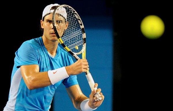 """Australian Open 11 / 01 /  """" Je suis déjà à Melbourne. Je me suis entraîné ce matin malgré la pluie. """""""