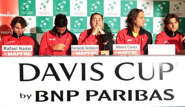 Coupe Davis 2011, 1er tour, entraînement et co.