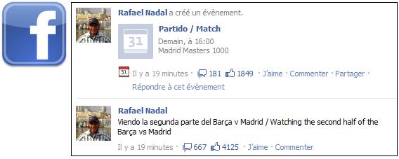 """03/05/11: """" En train de regarder le deuxième mi-temps du match Barca vs Madrid """""""
