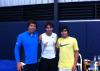 """04/11/11 : """"Ces deux dernières semaines j'ai travaillé dur avec Frederico et son entraîneur Pedro Felner. Merci beaucoup aux deux, cela a été deux très bonnes semaines ! :)"""""""