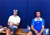 """08.11.11 : """" En train de se reposer pendant l'entraînement d'aujourd'hui avec le grand Teimuraz Gabashvilli !!"""