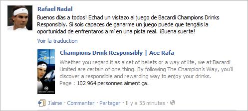 Campagne Bacardi, encore et toujours ...