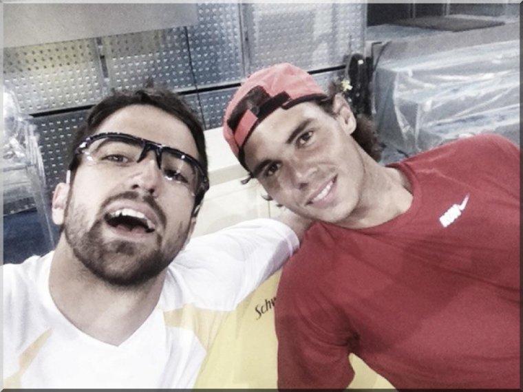 3 mai 2012 : Rafa est bien arrivé à Madrid où il a été vu récupérant ses bagages !