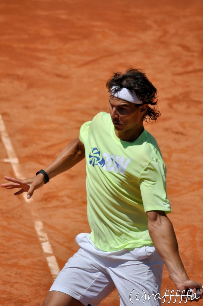 Roland Garros 2012 / 02 : Qualifications et Photos de Rafa en entraînement