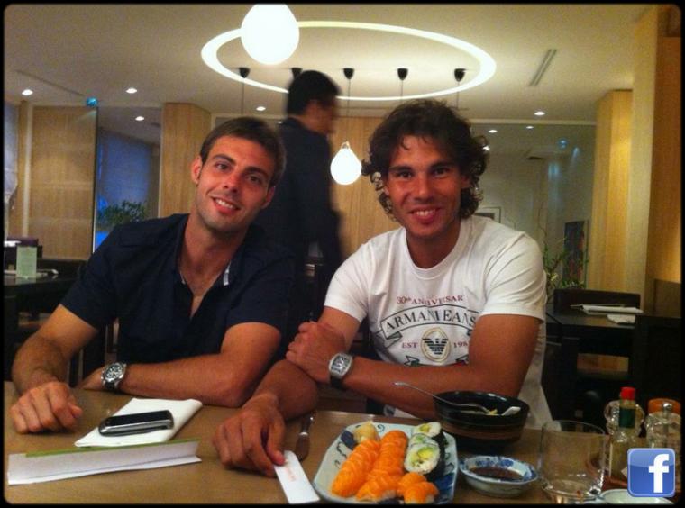 Roland Garros 2012 / 04 : Des sushis et des entraînements