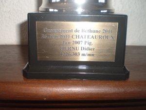 Mon 1 er DE Chateauroux primé à lievin le 5/11/11    L ULYSSE le  322783/10