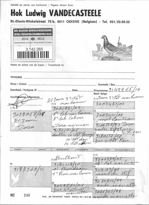 Achat a la vente de la France Colombophile a Hornaing ce Samedi 04/10/14