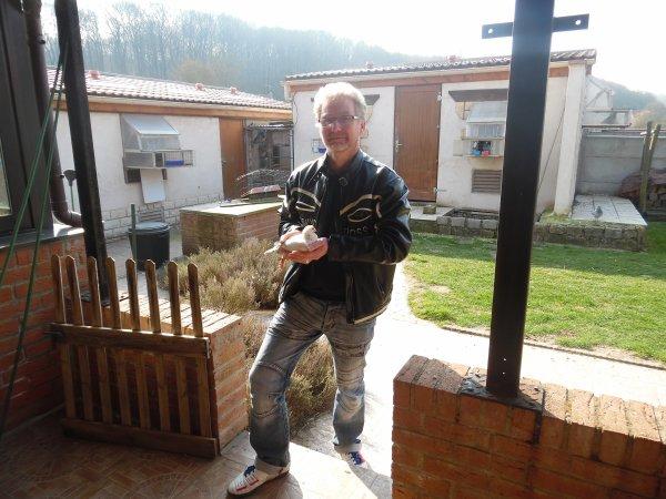 Mr Tenret Jacky en visite sur Aix Noulette