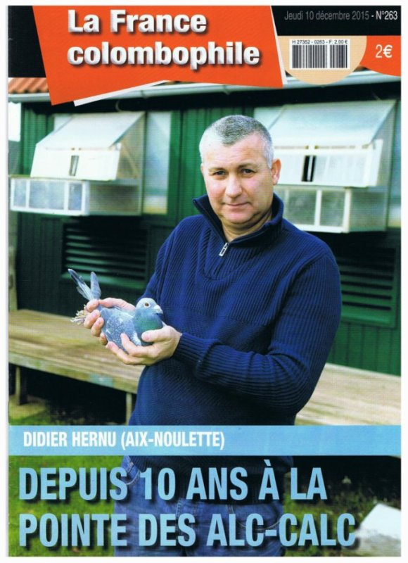 """"""" Aix Noulette """" un Berceau de Champions """" Pour la France Colombophile """""""