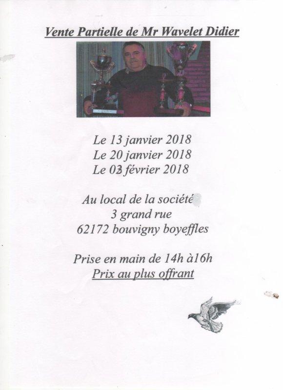 Vente de Feu Mr Wavelet Didier (1ère/2ème et 3ème Vente éffectuée) Les Remerciements