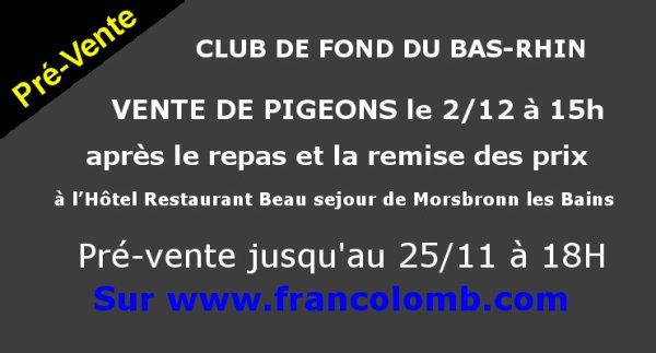 """Vente du Club du Fond du Bas-Rhin  Achat d un """" Ledoux Claude """""""