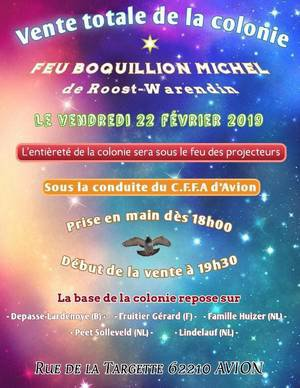 Vente totale de Mr Feu Boquillion Michel le 22/02/19