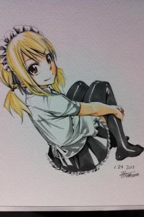 Dessin d'Hiro Mashima ( Lucy )partie 2