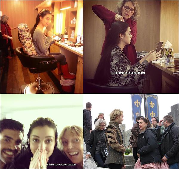 _ 27 Août 2014 - Adelaide sur le tournage de Reign et en dehors _