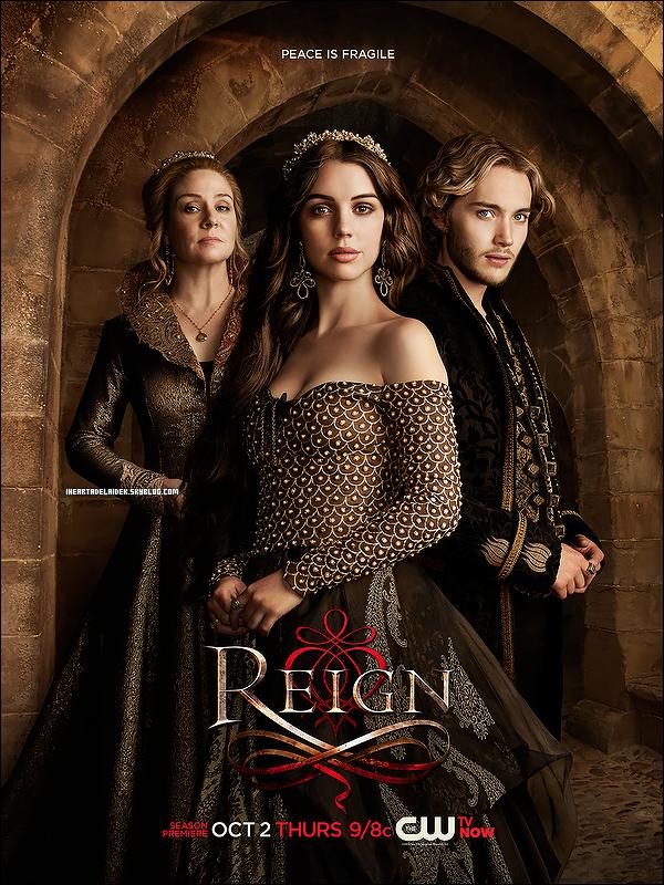 _ 05 Septembre 2014 - Poster promo pour la saison 2 de Reign et les coulisse de ce photoshoot _
