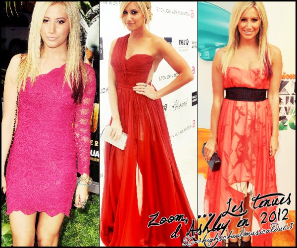 Zoom ... les tenues d'Ashley en 2012.