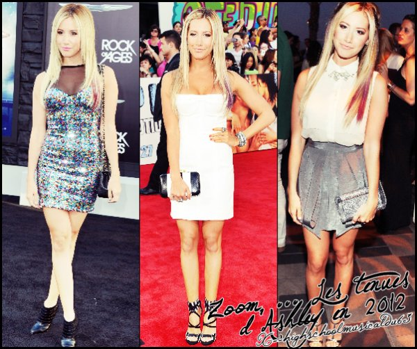 Zoom ... les tenues d'Ashley en 2012.