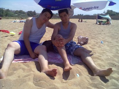 a la plage moi et nasro