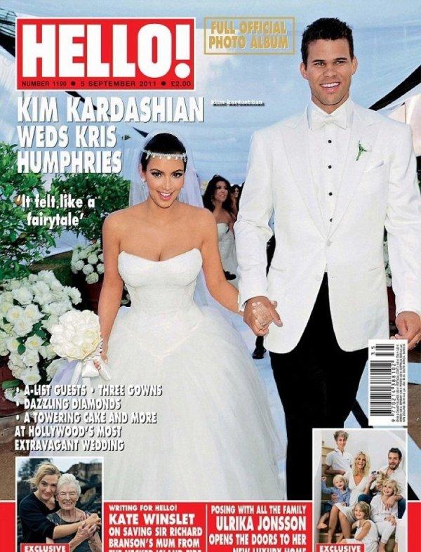 """Kim et Kris font la couverture du """" Hello Magazine"""" de Septembre 2011."""