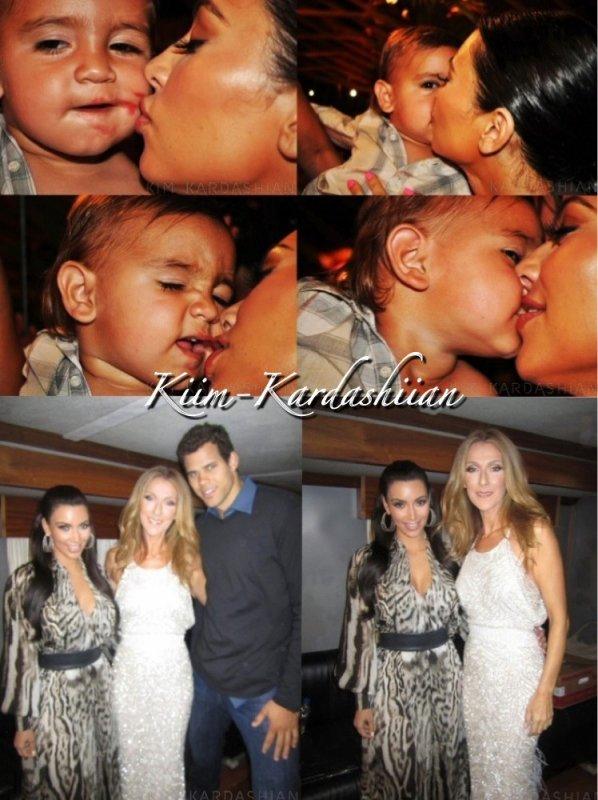 Kim K. à posté des photos d'elles et Mason sur son site officielle.