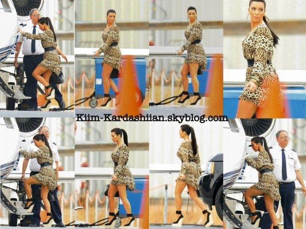 15/12/11. Kim a été repérée allant prendre le Jet Set pour se rendre à Las Vegas.
