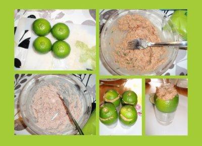 45 - Citrons verts farcis au thon