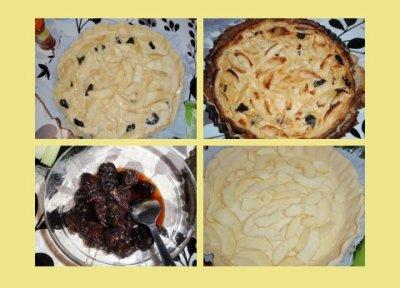 47 - Tarte aux pruneaux et aux pommes
