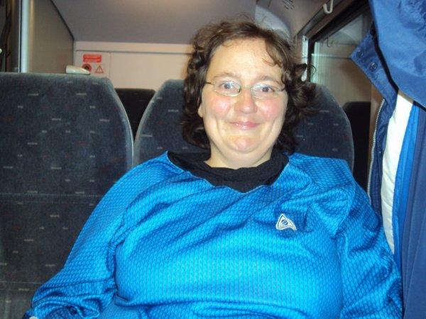 Une photo de moi dans le train de retour...
