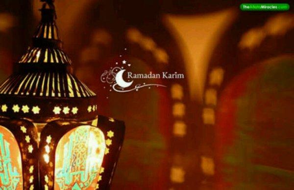 Ramadan karim à toi Meriem et ton bébé abdourahman atallah