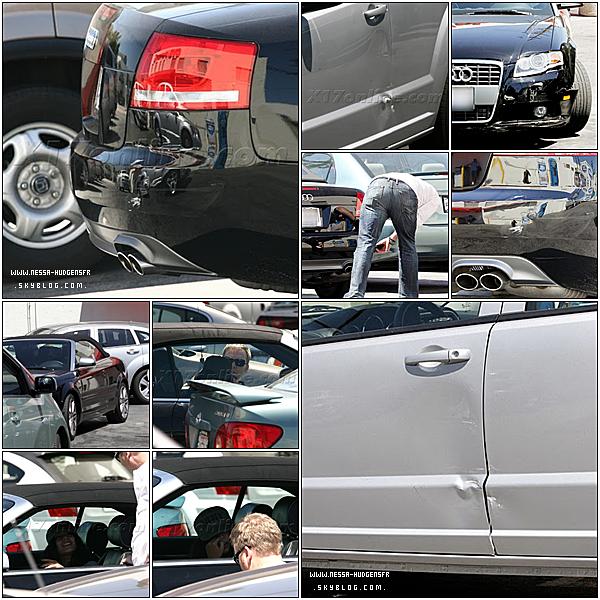 . 1 Septembre 2010 :Vanessa faisant un constat sans sortir de sa voiture, a la voir conduire sa promet lol Elle est belle la Audi, Bravo rallonge la facture. Femme au volant = Accident :) .