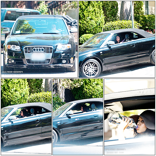 . ● AUGUST 30TH - Vanessa dans sa voiture après son shopping .