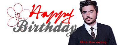 . Efron-l0ve fêtes ses 2 ans !  .