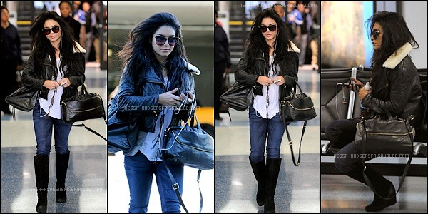 . 13 Janv. 2011 : Vanessa sortant de LAX aéroport, direction sa maison, pour le week-end. __ Top/Flop ?