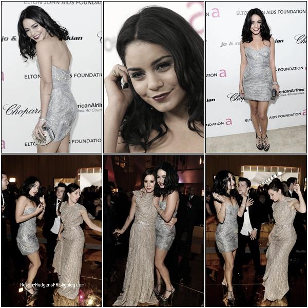 . 27 Février 2011 : Vanessa présente aux  Oscar Mercedes-Benz,  InStyle Academy Awards & Elton John AIDS Foundation Academy Awards dans sa magnifique robe argentée! TOP ! Elle était en compagnie de la ravissante Tisdale et de Josh Hutcherson à croire qu'ils ne se quittent plus! ;) .
