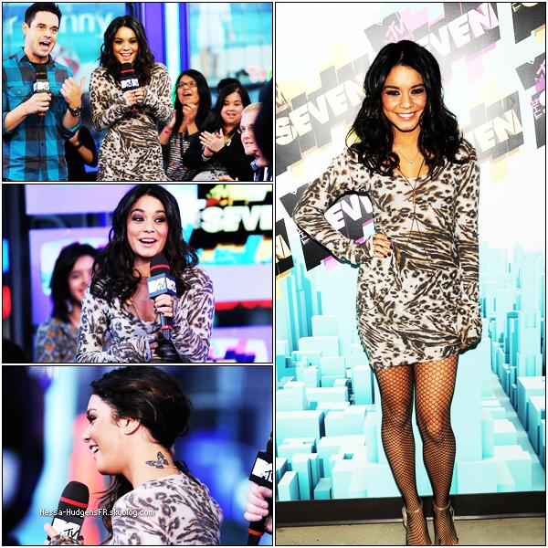 . 3 mars 2011 : Vanessa était sur le plateau de MTV The seven, pour  un interview ou elle à parler de beastly et de Sucker Punch. J'adore sa tenue elle était vraiment sublime. TOP! & Vous ?.