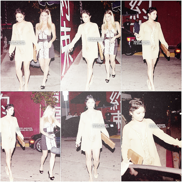 ♦ MOMENT OOPS POUR VANESSA HUDGENS, AFTER PARTY CAPTAIN AMERICA !