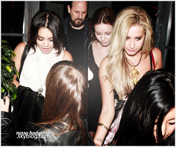 17 Sept. 2011 / Vanessa Hudgens & des amies (notamment sa BFF; Ashley Tisdale) ont été  vues sortant du birthday de Jennifer Tisdale au The Lexington social Club d' Hollywood. GROS TOP ! *_*