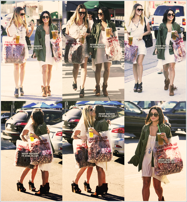 11 / 10 /11Vanessa Hudgens a été vue avec  Laura New faisant du shopping à Wasteland & Urban Outfitters.