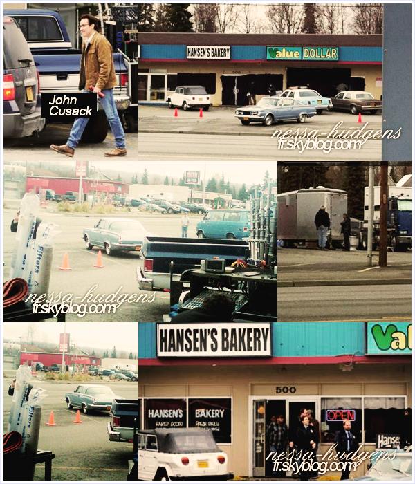Des photos sont apparus du tournage de 'Frozen Ground' sans pour autant voir Vanessa.