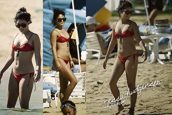 Vanessa est arrivée à Hawaï pour la promo de 'Journey 2'. Les paps, on vu lorsqu'elle était sur une plage de Maui en compagnie de son Boyfriend.  19.01.12