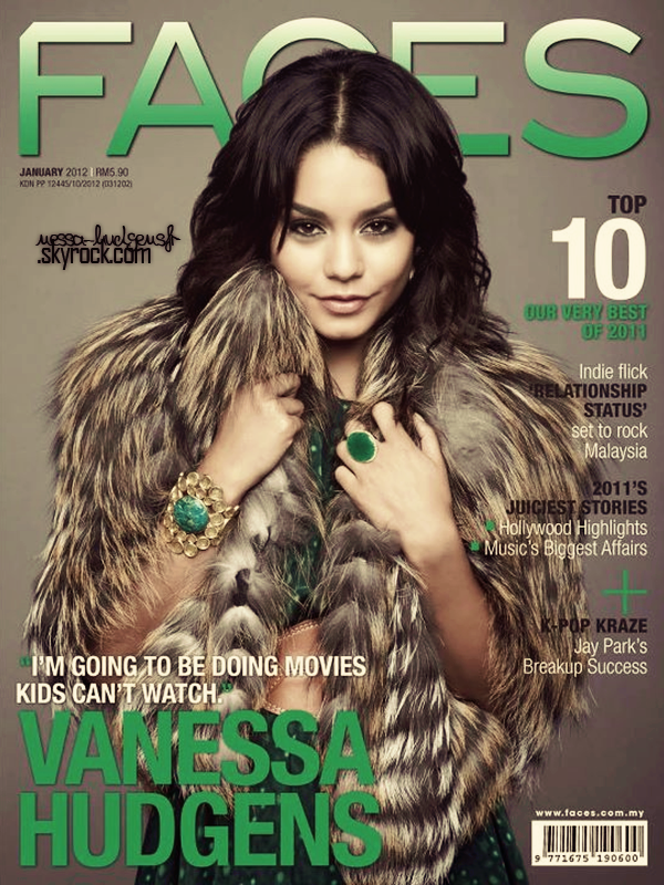 Vanessa faisant la couverture du magazine Faces du mois de Janvier.