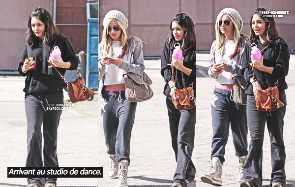 2 Février 2012 -  GOD, Je pensais que c'était un candid datant de 2008 mais non, Vanessa  & sa BFF,  Ashley ont été vue sortant d'un cours de dance au The Millennium Dance Studio dans North Hollywood.
