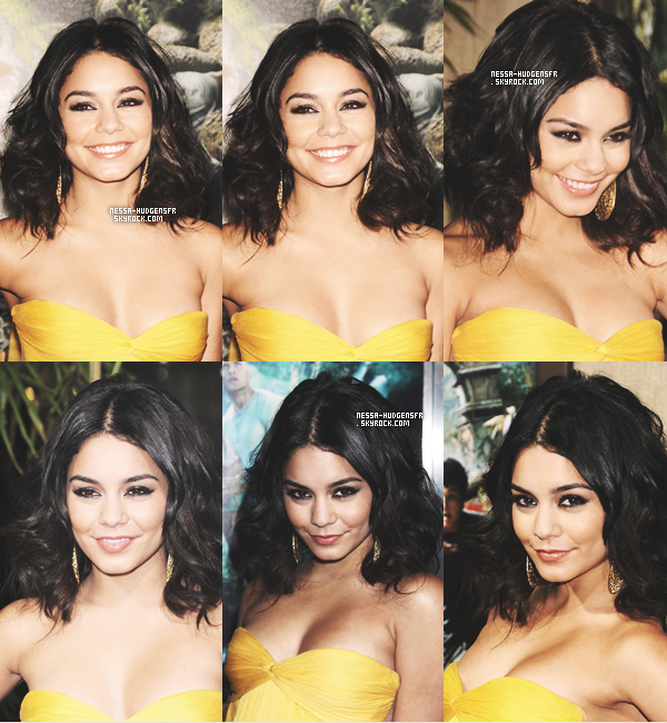 2 Février 2012 -  Vanessa assurant la première de 'Journey 2' à Los Angeles en compagnie de tout le cast. Vraiment rien à dire sur sa tenue, j'aime beaucoup hormis son accessoire à poil blond (clique here). Vos Avis?