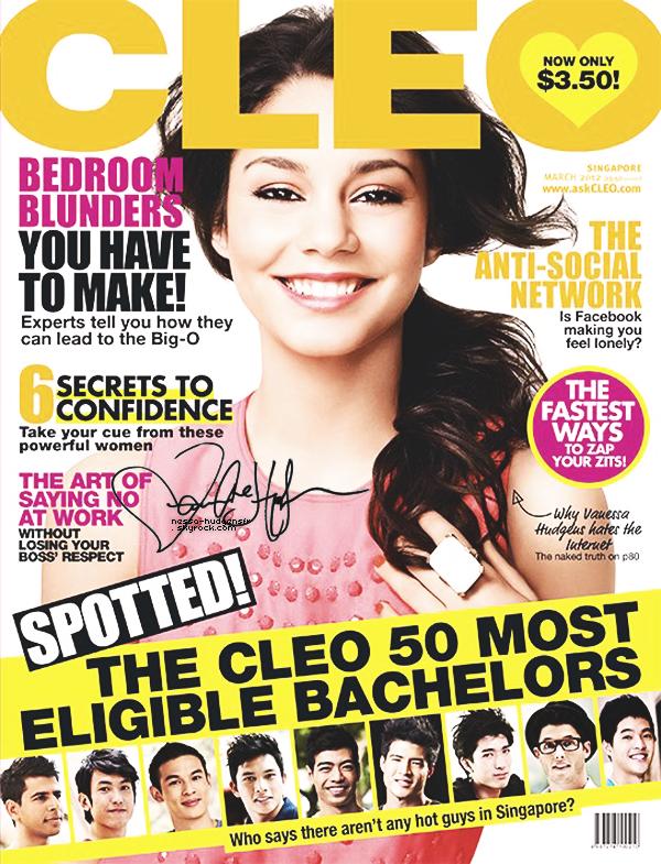 Baby V faisant la couverture du mois de Mars qui arrive pour le magazine Cleo.